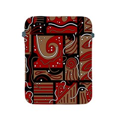 Red And Brown Abstraction Apple Ipad 2/3/4 Protective Soft Cases by Valentinaart