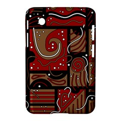 Red And Brown Abstraction Samsung Galaxy Tab 2 (7 ) P3100 Hardshell Case  by Valentinaart