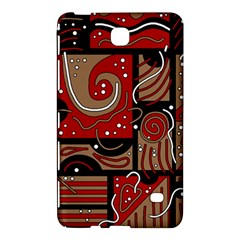 Red And Brown Abstraction Samsung Galaxy Tab 4 (7 ) Hardshell Case  by Valentinaart