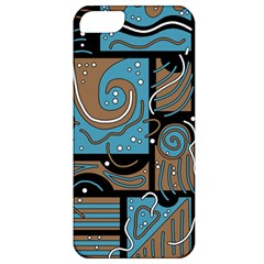 Blue And Brown Abstraction Apple Iphone 5 Classic Hardshell Case
