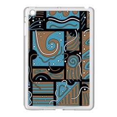 Blue And Brown Abstraction Apple Ipad Mini Case (white) by Valentinaart