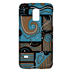 Blue And Brown Abstraction Galaxy S5 Mini by Valentinaart