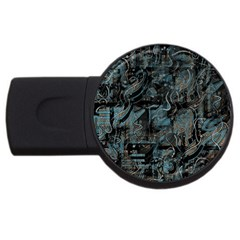 Blue Town Usb Flash Drive Round (2 Gb)  by Valentinaart