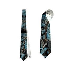 Blue Town Neckties (one Side)  by Valentinaart