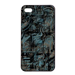 Blue Town Apple Iphone 4/4s Seamless Case (black) by Valentinaart