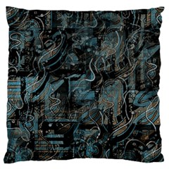 Blue Town Large Cushion Case (two Sides) by Valentinaart