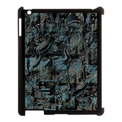 Blue Town Apple Ipad 3/4 Case (black) by Valentinaart