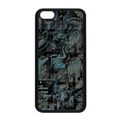 Blue Town Apple Iphone 5c Seamless Case (black) by Valentinaart
