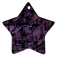 Purple Town Ornament (star)  by Valentinaart
