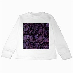 Purple Town Kids Long Sleeve T Shirts by Valentinaart