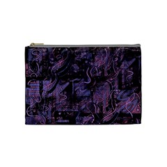 Purple Town Cosmetic Bag (medium)  by Valentinaart
