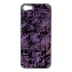 Purple Town Apple Iphone 5 Case (silver) by Valentinaart