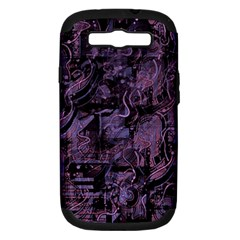 Purple Town Samsung Galaxy S Iii Hardshell Case (pc+silicone) by Valentinaart