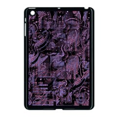 Purple Town Apple Ipad Mini Case (black) by Valentinaart