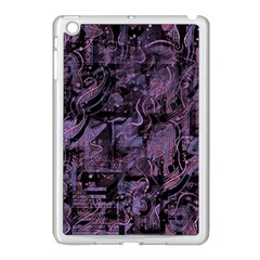 Purple Town Apple Ipad Mini Case (white) by Valentinaart