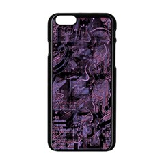 Purple Town Apple Iphone 6/6s Black Enamel Case by Valentinaart