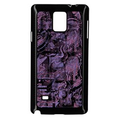 Purple Town Samsung Galaxy Note 4 Case (black) by Valentinaart
