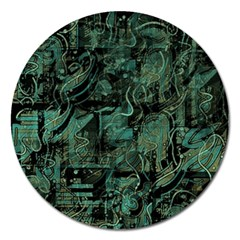 Green Town Magnet 5  (round)