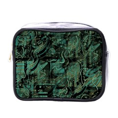 Green Town Mini Toiletries Bags by Valentinaart