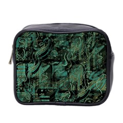 Green Town Mini Toiletries Bag 2 Side by Valentinaart