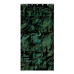 Green Town Shower Curtain 36  X 72  (stall)  by Valentinaart