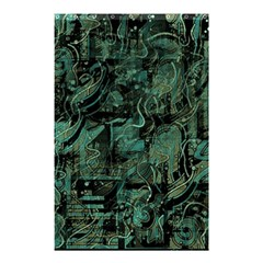 Green Town Shower Curtain 48  X 72  (small)  by Valentinaart
