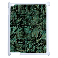 Green Town Apple Ipad 2 Case (white) by Valentinaart