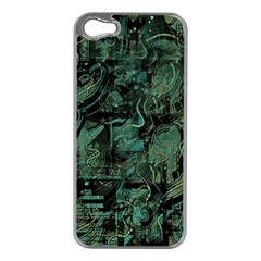 Green Town Apple Iphone 5 Case (silver) by Valentinaart