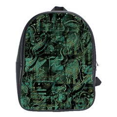 Green Town School Bags (xl)  by Valentinaart