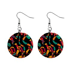 Colorful Snakes Mini Button Earrings by Valentinaart