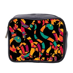 Colorful Snakes Mini Toiletries Bag 2 Side by Valentinaart
