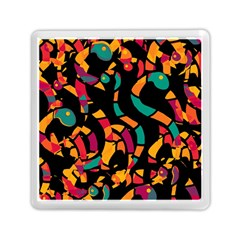 Colorful Snakes Memory Card Reader (square)  by Valentinaart