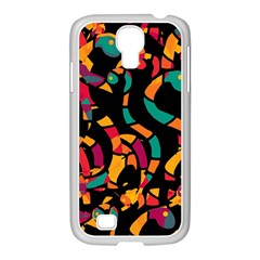 Colorful Snakes Samsung Galaxy S4 I9500/ I9505 Case (white) by Valentinaart