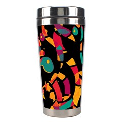 Colorful Snakes Stainless Steel Travel Tumblers by Valentinaart