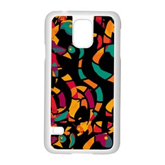 Colorful Snakes Samsung Galaxy S5 Case (white) by Valentinaart