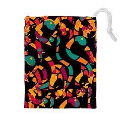 Colorful Snakes Drawstring Pouches (extra Large)