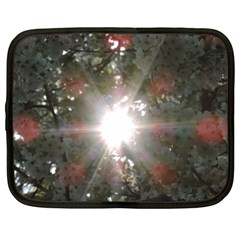 Sun Rays Through White Cherry Blossoms Netbook Case (large) by picsaspassion