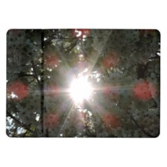 Sun Rays Through White Cherry Blossoms Samsung Galaxy Tab 10 1  P7500 Flip Case