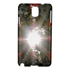 Sun Rays Through White Cherry Blossoms Samsung Galaxy Note 3 N9005 Hardshell Case