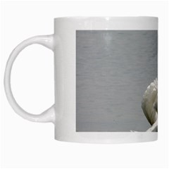 Swimming White Swan White Mugs by picsaspassion