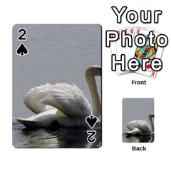 Swimming White Swan Playing Cards 54 Designs  by picsaspassion