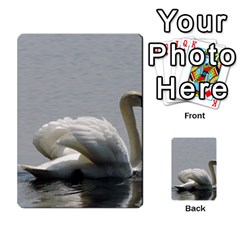 Swimming White Swan Multi Purpose Cards (rectangle)  by picsaspassion