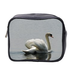 Swimming White Swan Mini Toiletries Bag 2 Side by picsaspassion