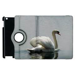 Swimming White Swan Apple Ipad 2 Flip 360 Case by picsaspassion