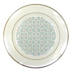 Intricate Floral Collage  Porcelain Plates