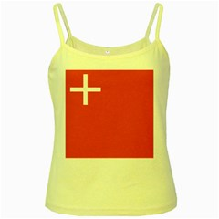 Flag Of Canton Of Schwyz Yellow Spaghetti Tank by abbeyz71
