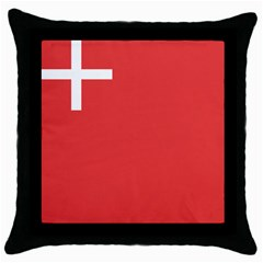 Flag Of Canton Of Schwyz Throw Pillow Case (black) by abbeyz71