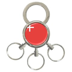 Flag Of Canton Of Schwyz 3-ring Key Chains by abbeyz71