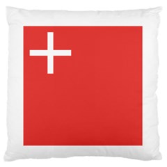 Flag Of Canton Of Schwyz Standard Flano Cushion Case (one Side) by abbeyz71