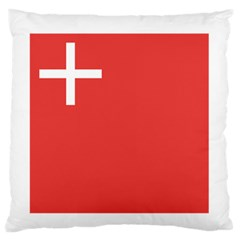 Flag Of Canton Of Schwyz Large Flano Cushion Case (two Sides) by abbeyz71